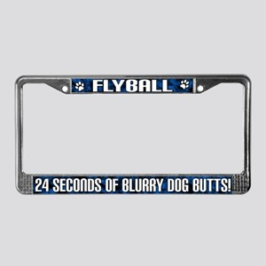 Flyball Blurry Dog Butts License Plate Frame
