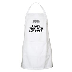 Free Beer And Pizza BBQ Apron