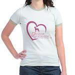 Min Pin heart Jr. Ringer T-Shirt