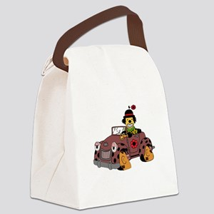Clown in Car Canvas Lunch Bag