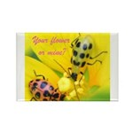 Your flower or mine? Rectangle Magnet (100 pack)