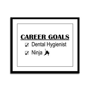 Dental Hygienist Career Goals Framed Panel Print