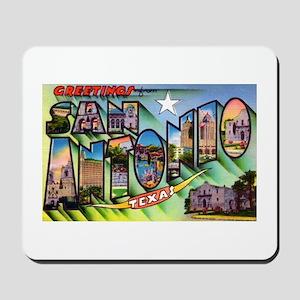 San Antonio Texas Greetings Mousepad