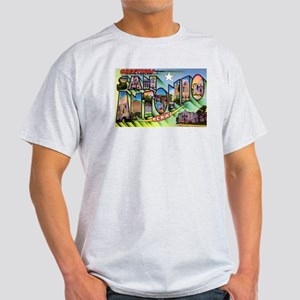 San Antonio Texas Greetings (Front) Light T-Shirt