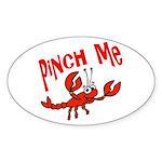 Pinch Me Oval Sticker