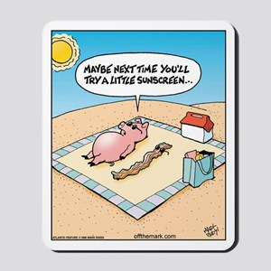 Pig Bacon Sunscreen Mousepad