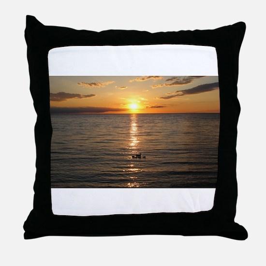 Egg Harbor - Door County 3 Throw Pillow