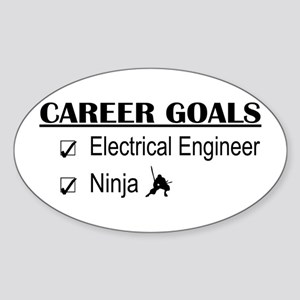 EE Career Goals Oval Sticker