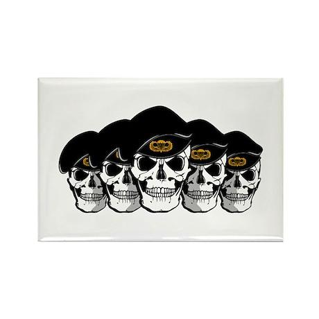 Airborne Skulls Rectangle Magnet (10 pack)