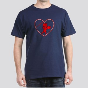 Be My Valentine Cupid Dark T-Shirt
