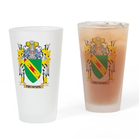 Frearson Coat of Arms - Family Cres Drinking Glass