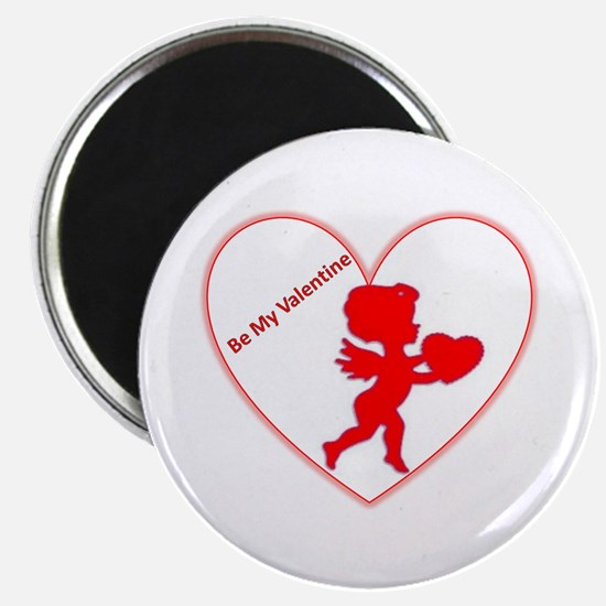 """Be My Valentine Cupid 2.25"""" Magnet (10 pack)"""