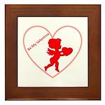 Be My Valentine Cupid Framed Tile