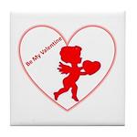 Be My Valentine Cupid Tile Coaster