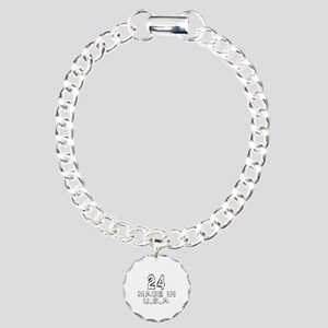 24 Made In U.S.A Charm Bracelet, One Charm