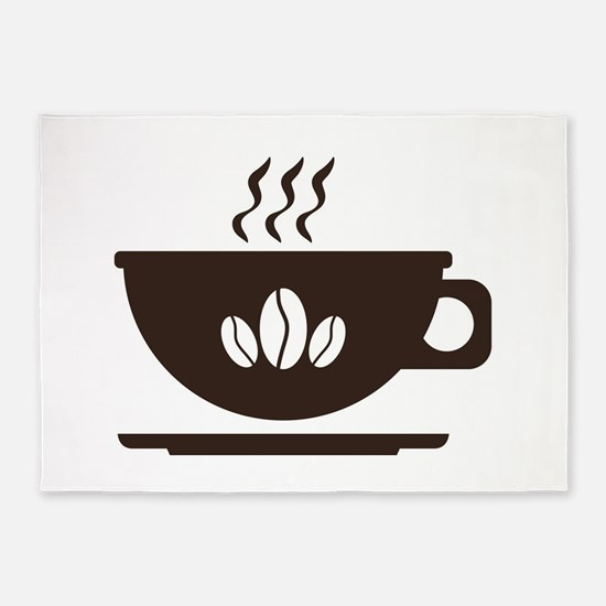 Cup of coffee 5'x7'Area Rug