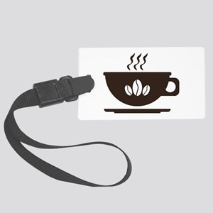 Cup of coffee Large Luggage Tag