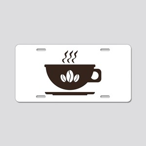 Cup of coffee Aluminum License Plate