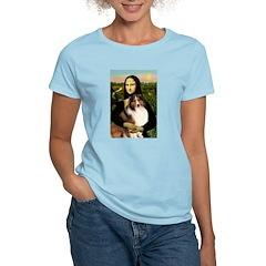 Mona Lisa / Sheltie (s&w) Women's Light T-Shirt