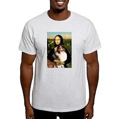 Mona Lisa / Sheltie (s&w) T-Shirt