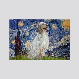 English Setter / Starry Night Rectangle Magnet