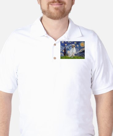 English Setter / Starry Night Golf Shirt