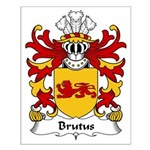 Brutus Family Crest Small Poster