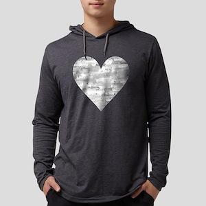 Gray Heart Long Sleeve T-Shirt