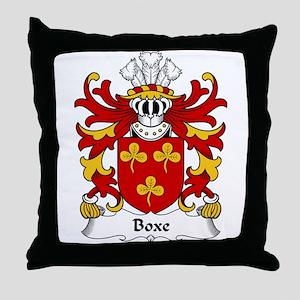 Boxe Family Crest Throw Pillow