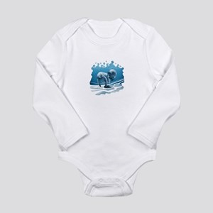 Two Manatees Swimming Body Suit