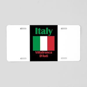 Villafranca D'Asti Italy Aluminum License Plate