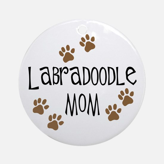 Labradoodle Mom Ornament (Round)