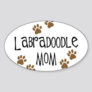 Labradoodle Mom Oval Sticker