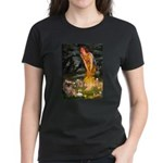 Fairies / Tibetan Spaniel Women's Dark T-Shirt