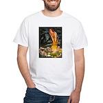 Fairies / Tibetan Spaniel White T-Shirt