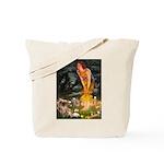 Fairies / Tibetan Spaniel Tote Bag