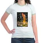 Fairies / Tibetan Spaniel Jr. Ringer T-Shirt