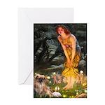 Fairies / Tibetan Spaniel Greeting Card