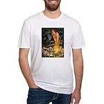 Fairies / Tibetan Spaniel Fitted T-Shirt
