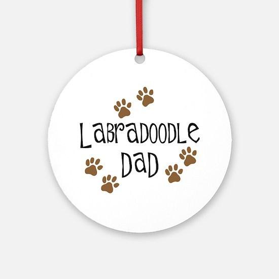 Labradoodle Dad Ornament (Round)