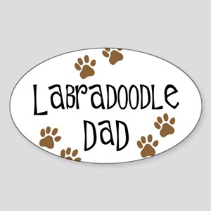 Labradoodle Dad Oval Sticker