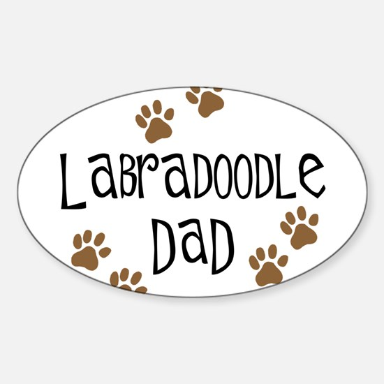 Labradoodle Dad Oval Decal