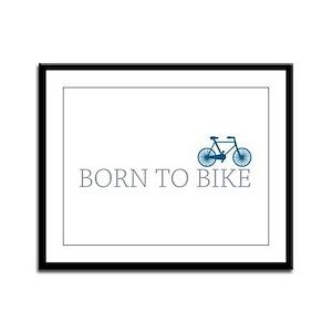 Born to Bike Framed Panel Print