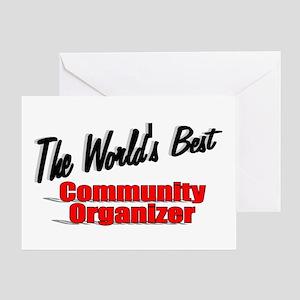 """The World's Best Community Organizer"" Greeting Ca"