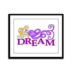 Dream Mermaid Framed Panel Print