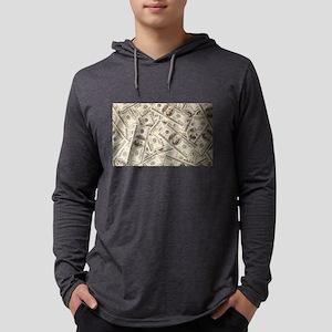 Dollar Bills Long Sleeve T-Shirt
