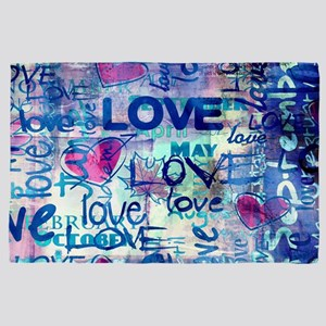 Abstract Love Painting 4' x 6' Rug