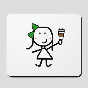 Girl & Coffee Mousepad