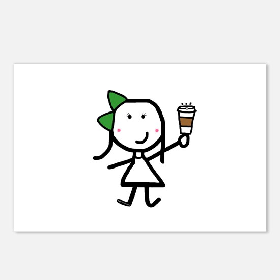 Girl & Coffee Postcards (Package of 8)