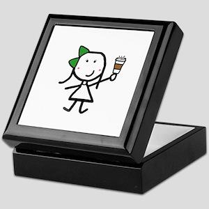 Girl & Coffee Keepsake Box